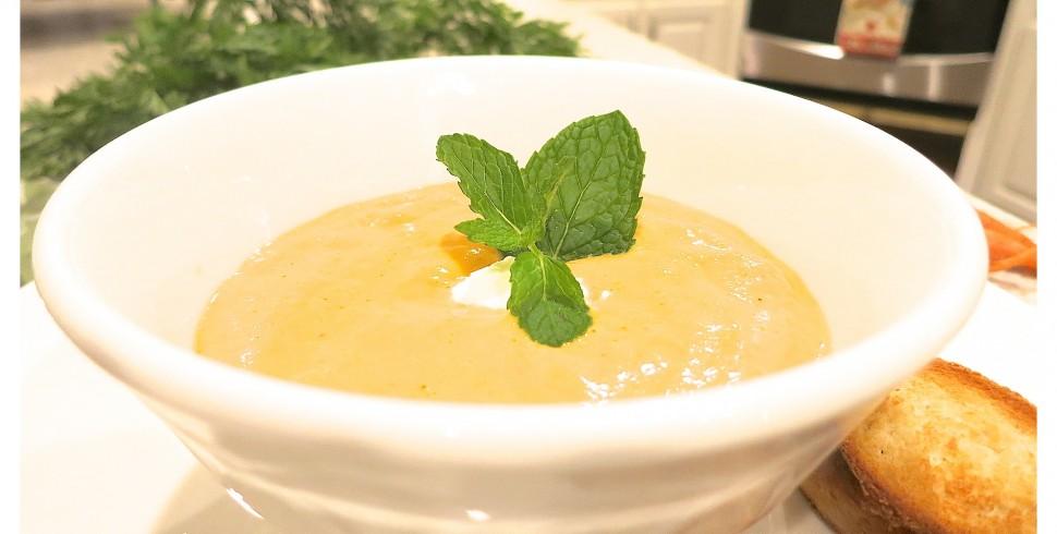 Creamy Thai Carrot Soup…