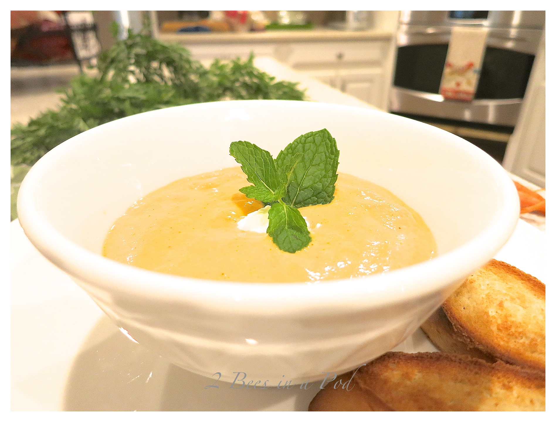Creamy Thai Carrot Soup…
