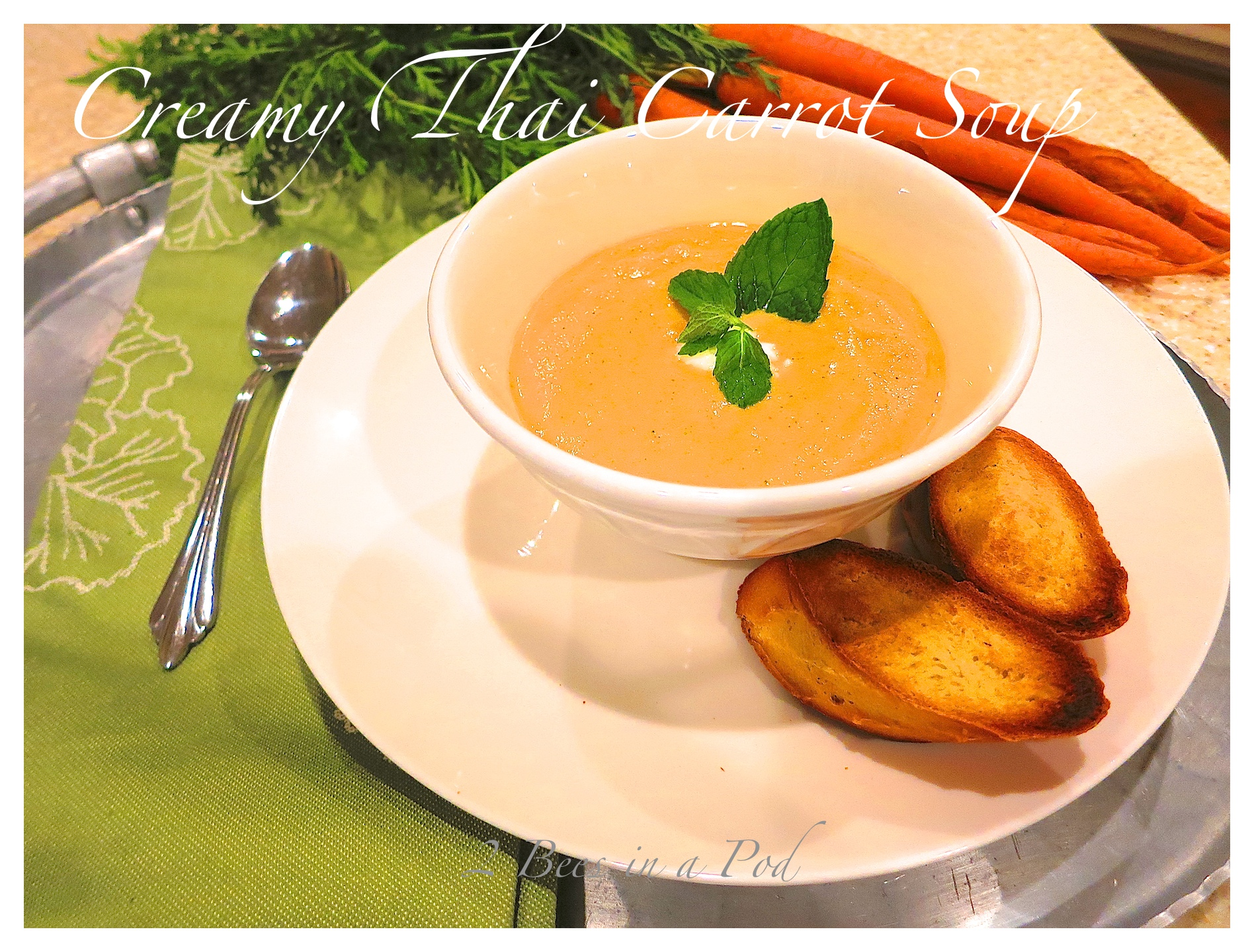 Creamy Thai Carrot Soup...packed with flavor and easy to make.