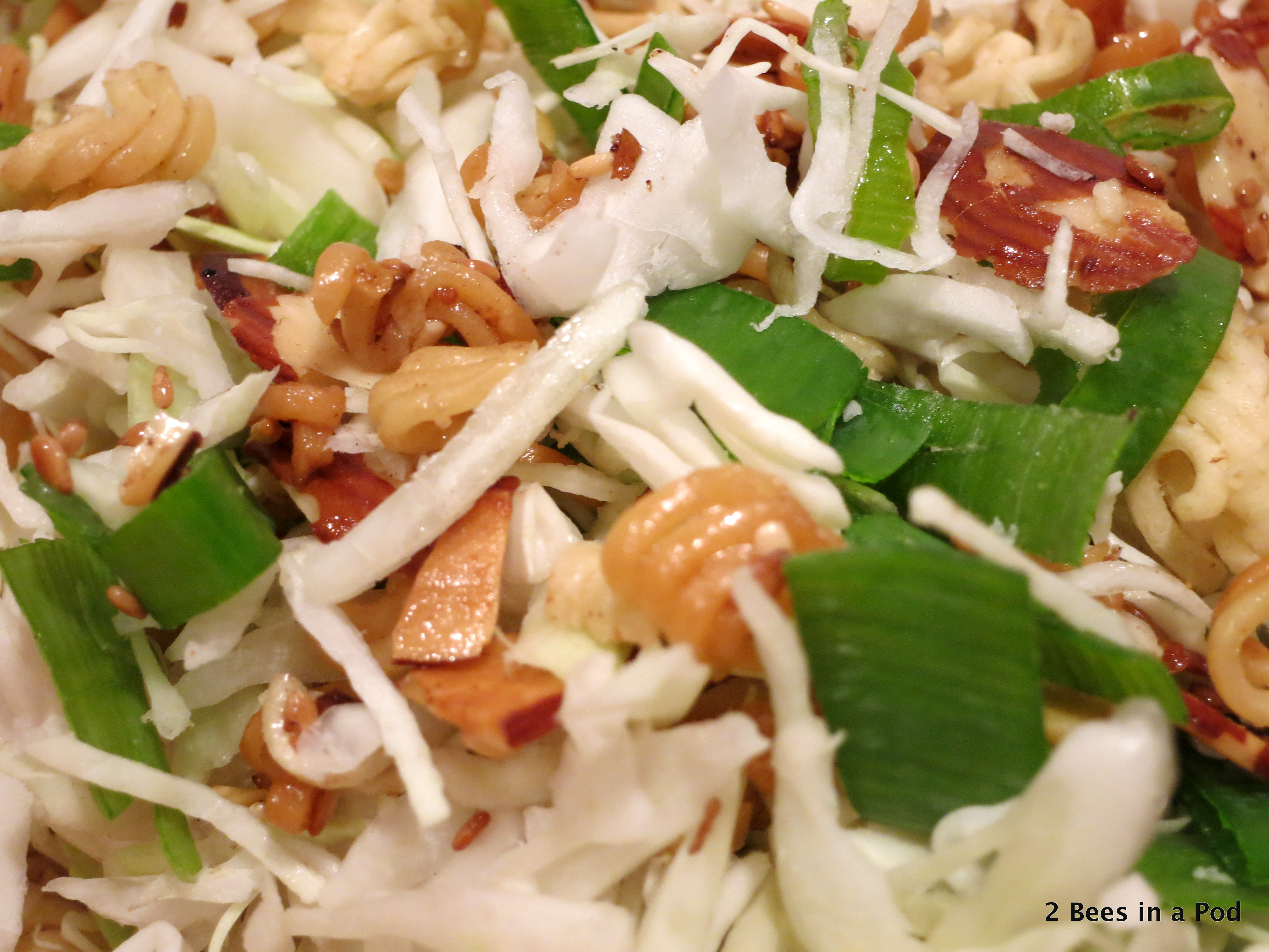 Fumi Salad - toasted almonds, sesame seeds, ramen noodles, cabbage, green onions, and asian dressing with rice vinegar, soy sauce & sugar
