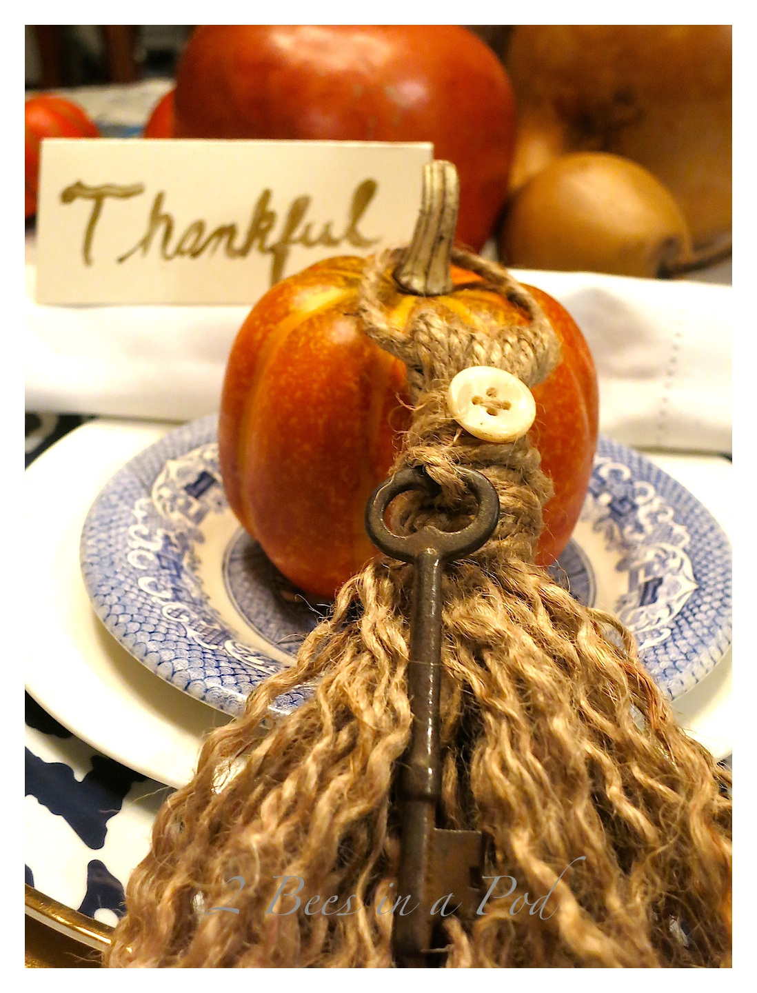 DIY Jute Tassel...Easy and simple craft. the tassel is wonderful for a tablescape place setting, memento, or keepsake.