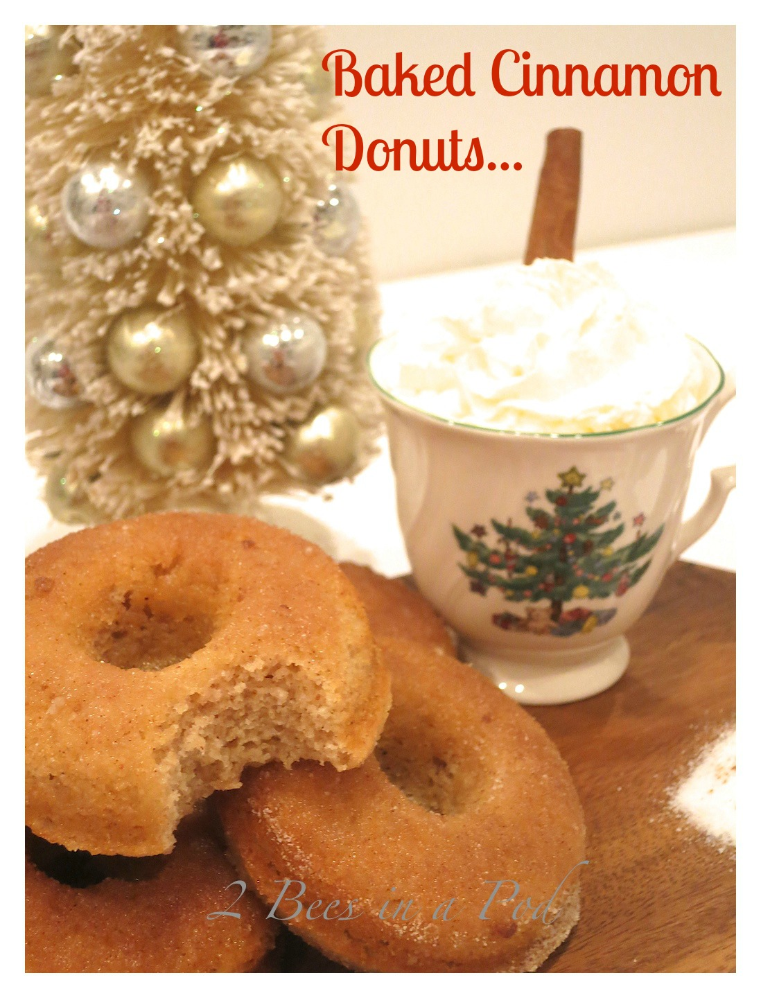 Perfect Christmas treat…Baked Cinnamon Donuts. Easy to make and super tasty!