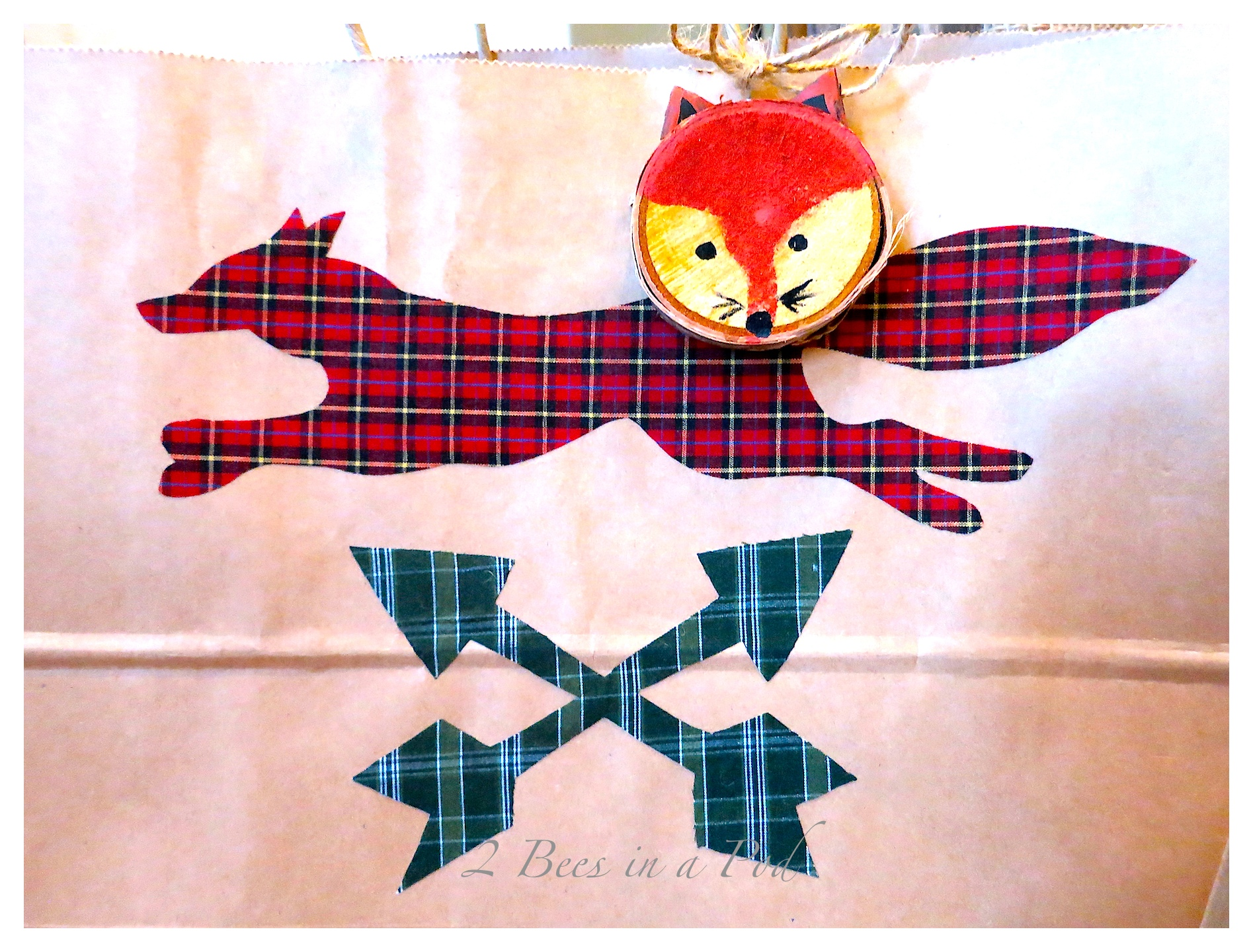 Woodland Fox and Christmas Plaid Gift Wrapping…