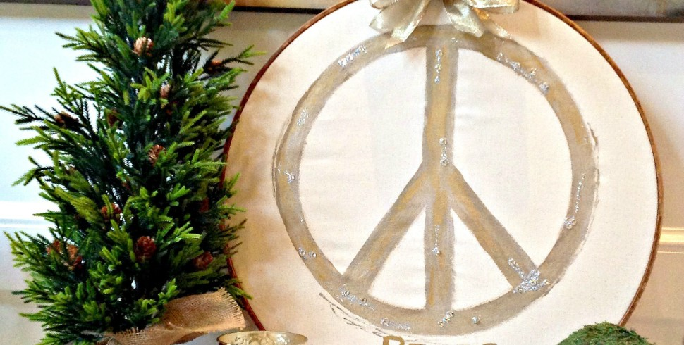 Pottery Barn Inspired Peace Symbol…