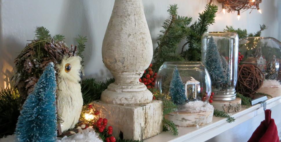 Rustic Inspired Christmas Mantel