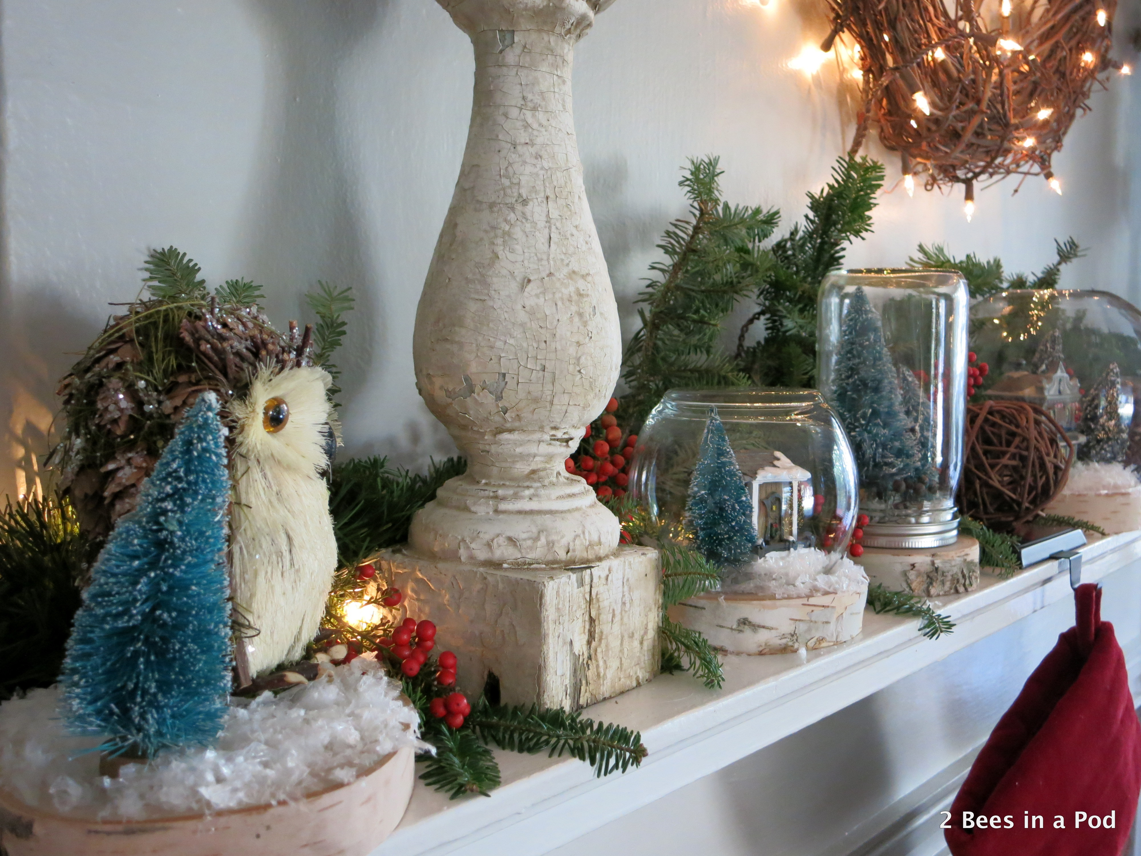 Rustic Inspired Christmas Mantel
