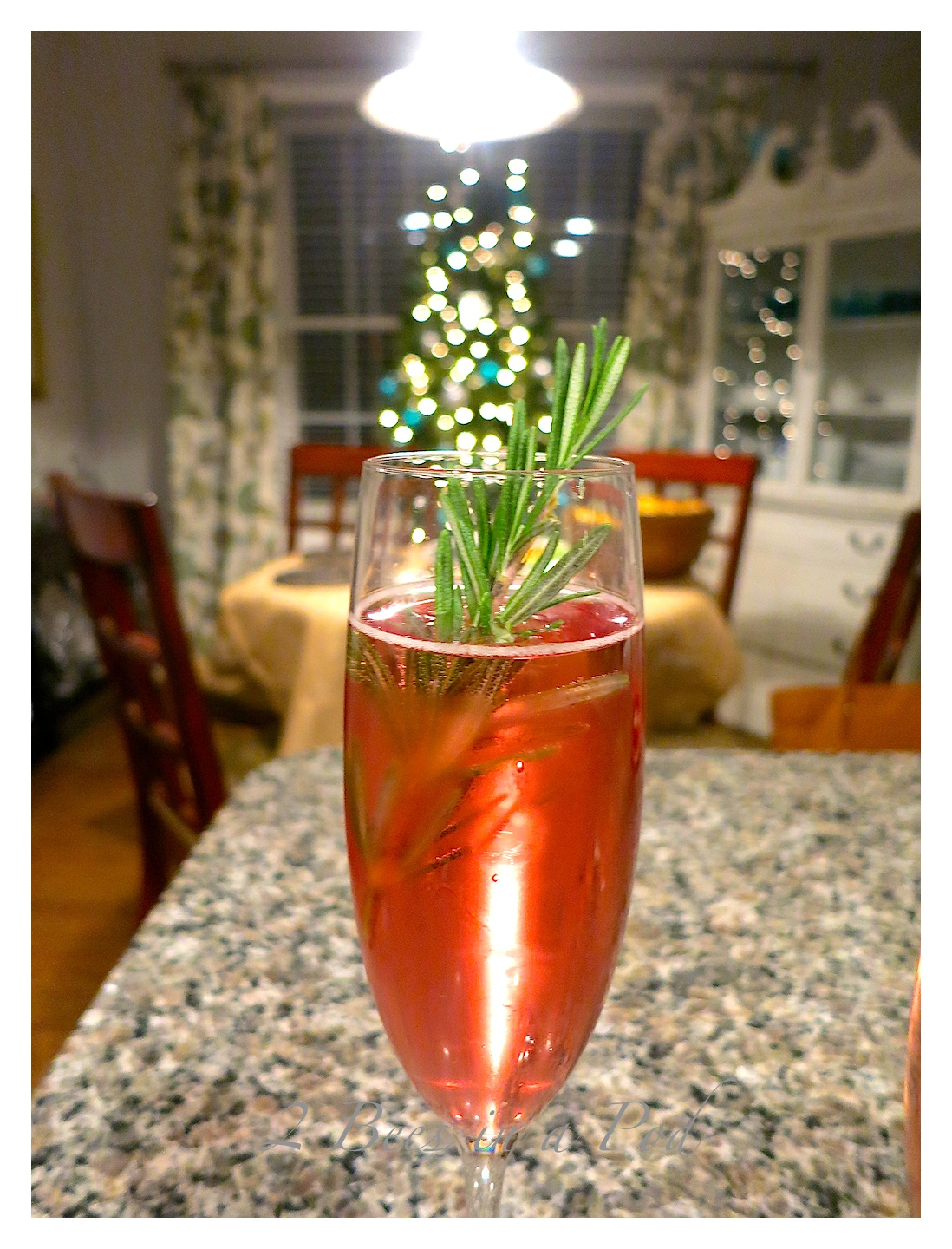 Poinsettia Cocktail... - 2 Bees in a Pod