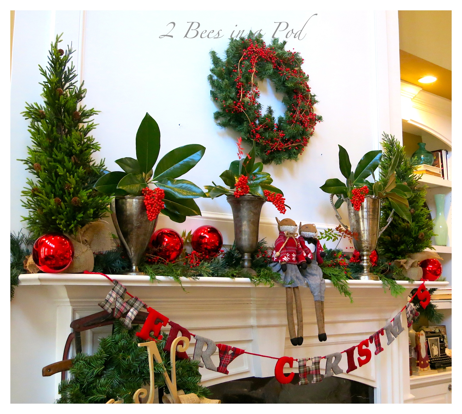 Why is holly a traditional christmas decoration - Christmas Home Tour 2014 Traditional Green And Red Decor Also Rustic And Vintage Decor