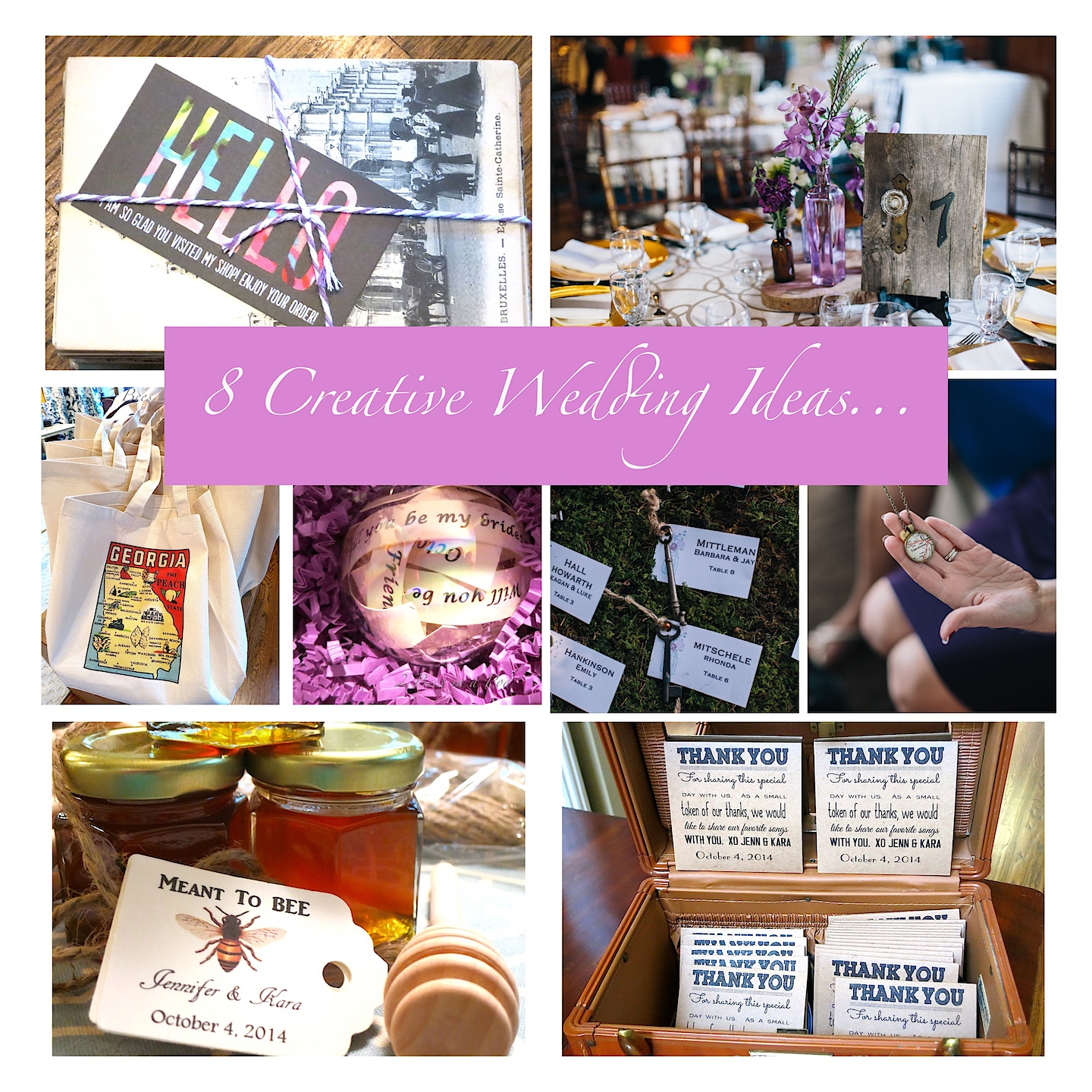Wedding Ideas Roundup…were you fortunate enough to get engaged for Christmas or possibly the New Year. We've collected ideas from my wedding that will help make your planning easier.