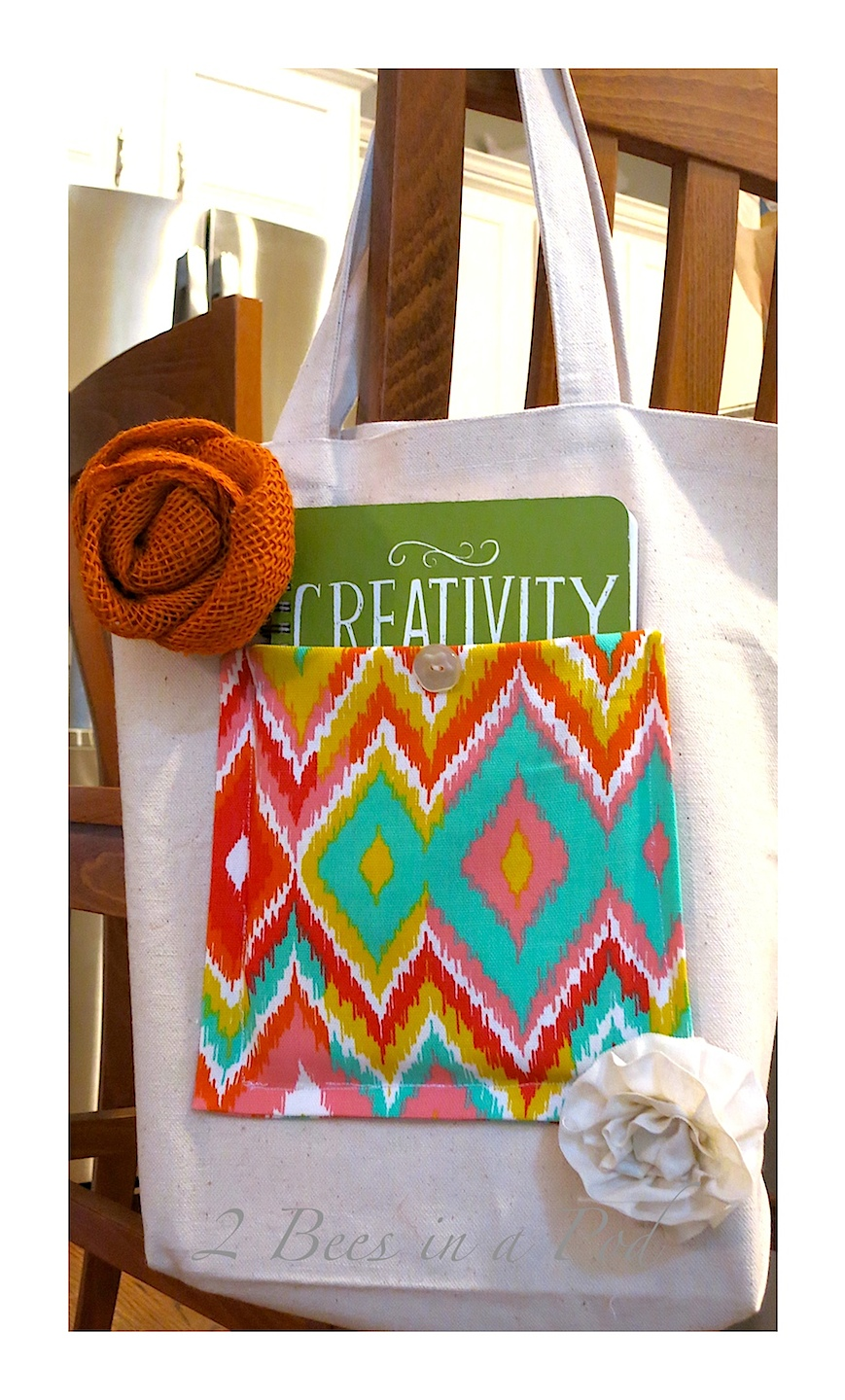 DIY Decorative Canvas Bag - makes an exec;;net gift too