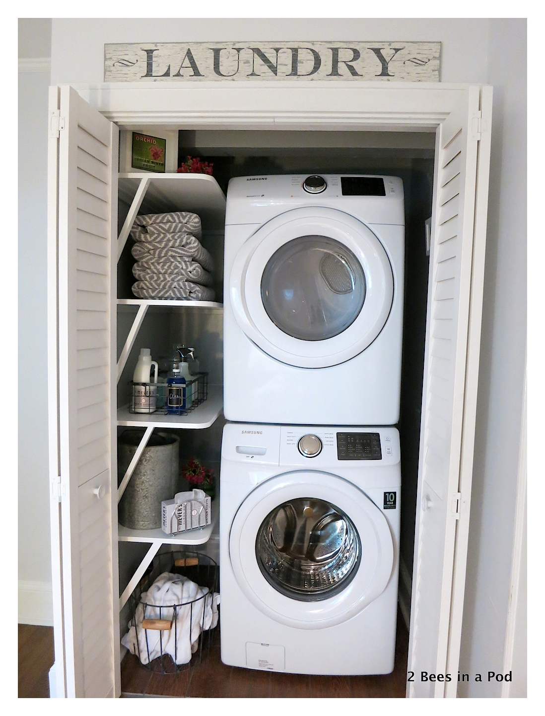 Small Space Solution - Closet turned to Laundry Area
