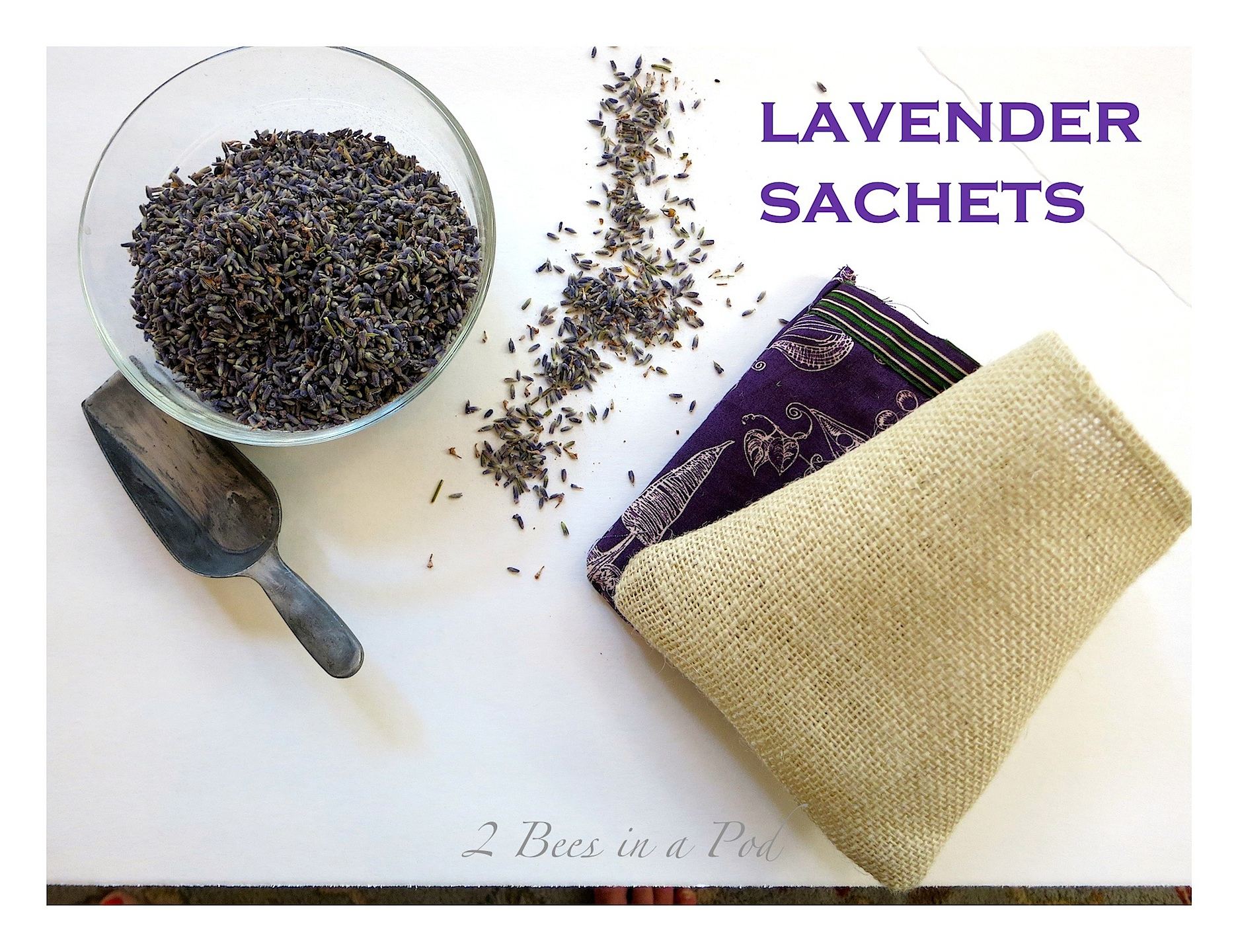 DIY Lavender Sachets - quick and easy