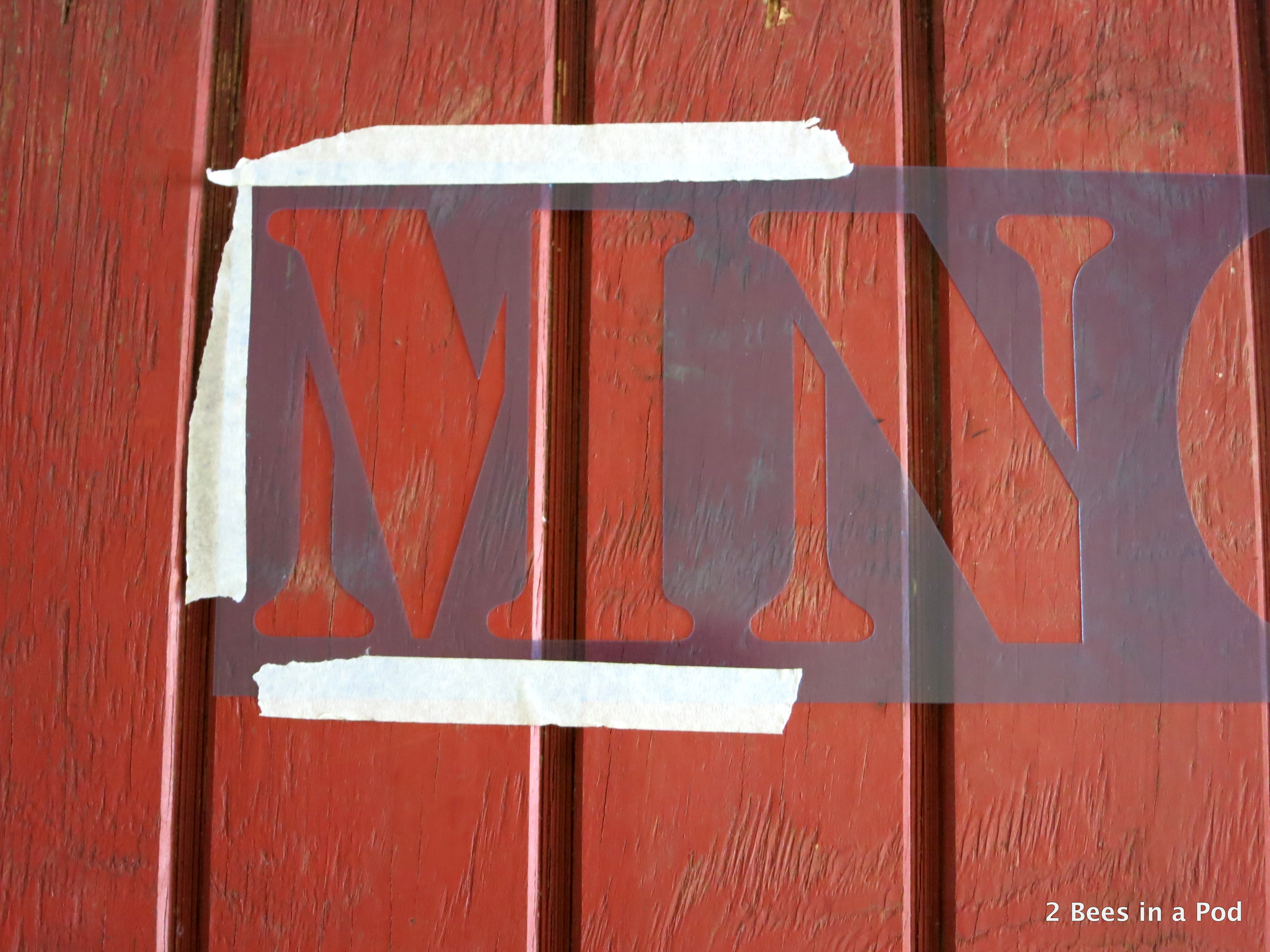 Rustic DIY Merry Christmas Handpainted Sign 1