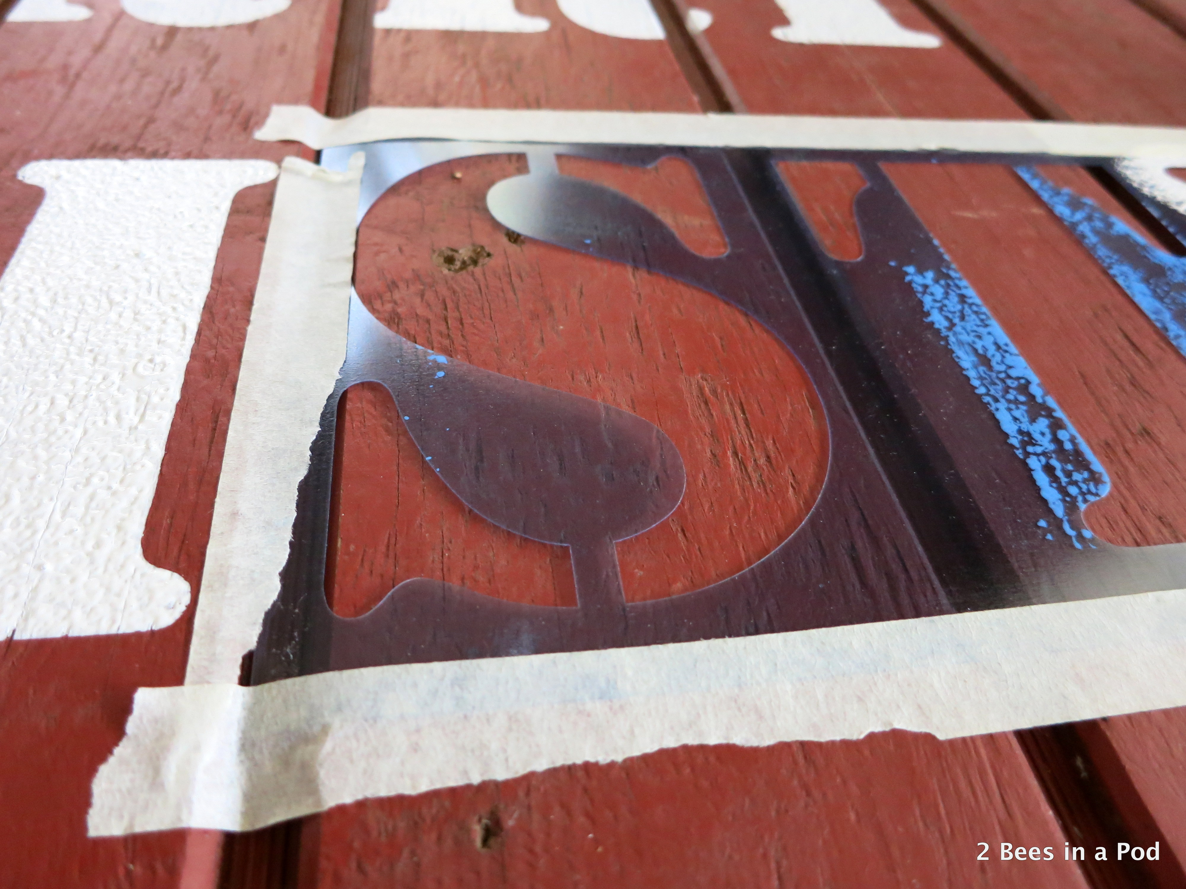 Rustic DIY Merry Christmas Handpainted Sign 2