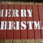DIY Rustic Merry Christmas Sign