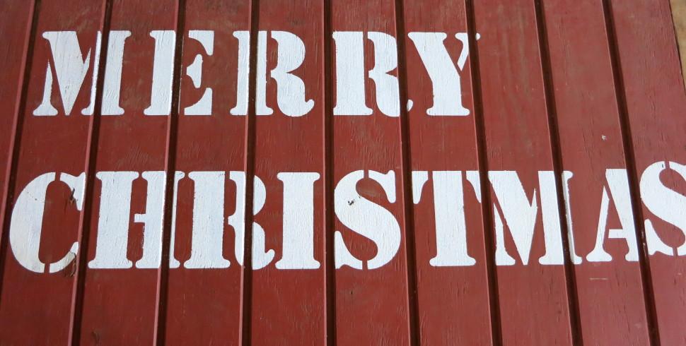 DIY Rustic Merry Christmas Sign