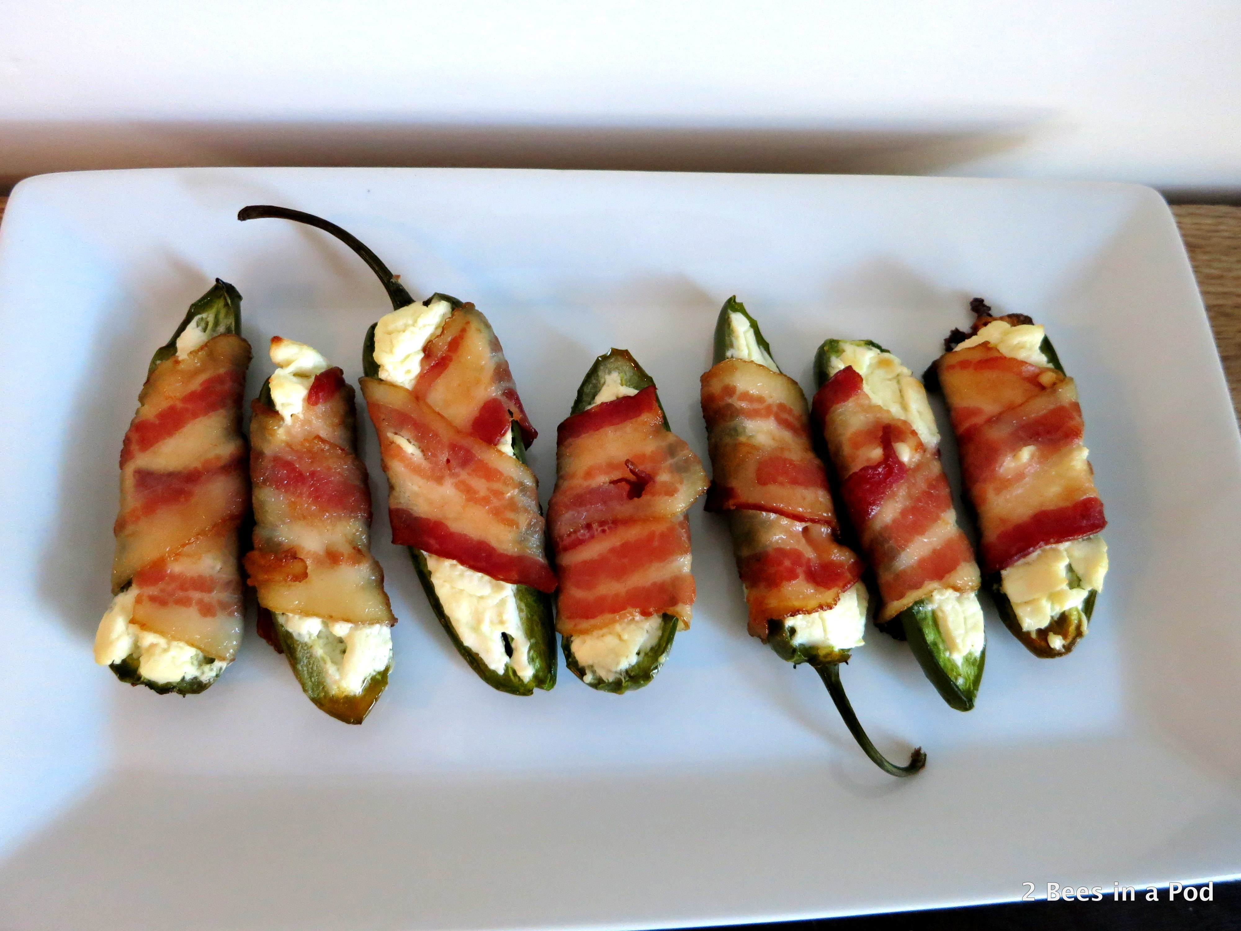 Jalapeno Poppers with cream cheese and bacon...perfect for the Super Bowl!
