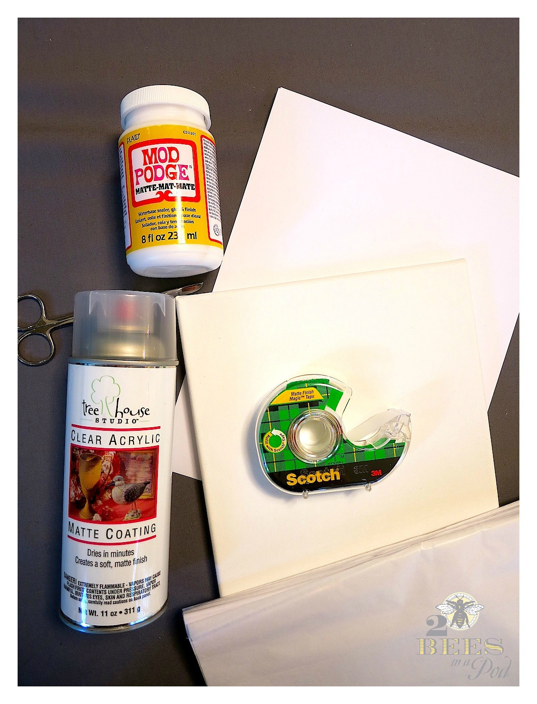 DIY Tissue Paper Photo Canvas - print out a photo from your home computer onto gift wrap tissue paper. Using Mod Podge add tissue paper to canvas.