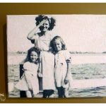 Tissue Paper Photo Canvas