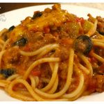 My moms recipe for Company Spaghetti - it is so flavorful and easy to make. Perfect for a crowd or family meal. I like to divide the recipe a freeze half. Delicious!