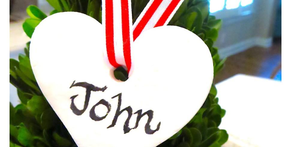 Valentine DIY Clay Gift Tag…