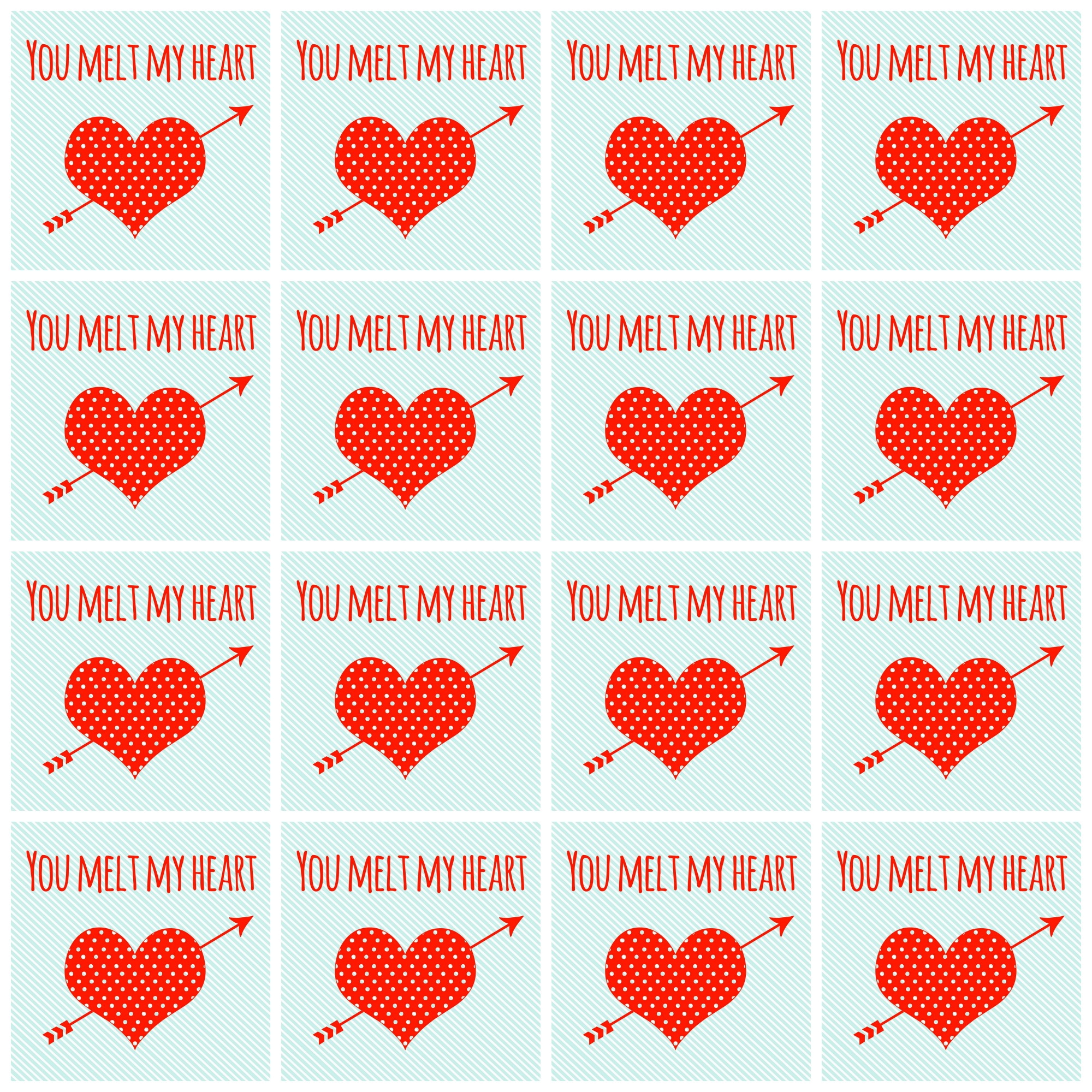 Free Valentine Printable - You Make My Heart Melt