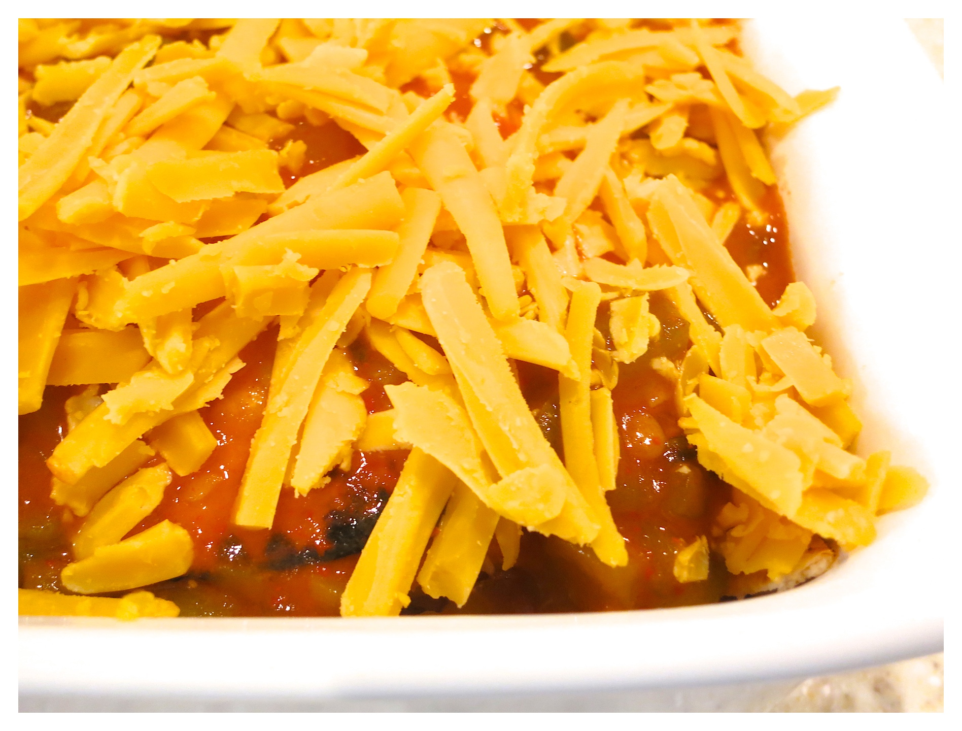 Quick and easy chicken enchilada casserole
