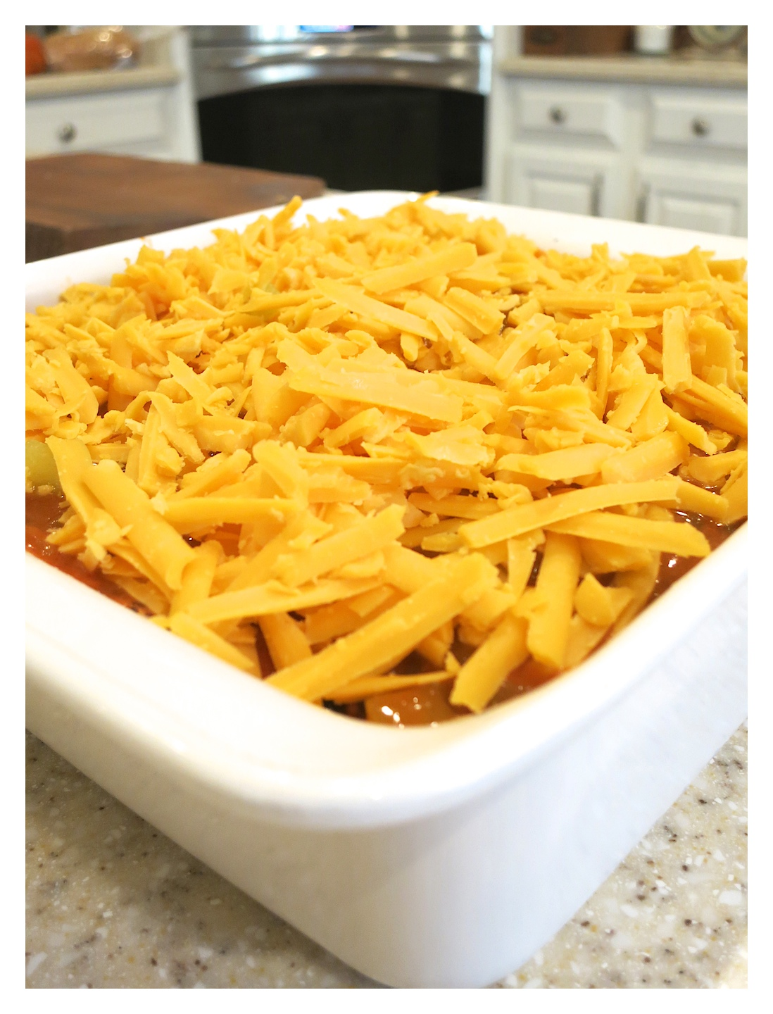 Quick and easy chicken enchilada casserole