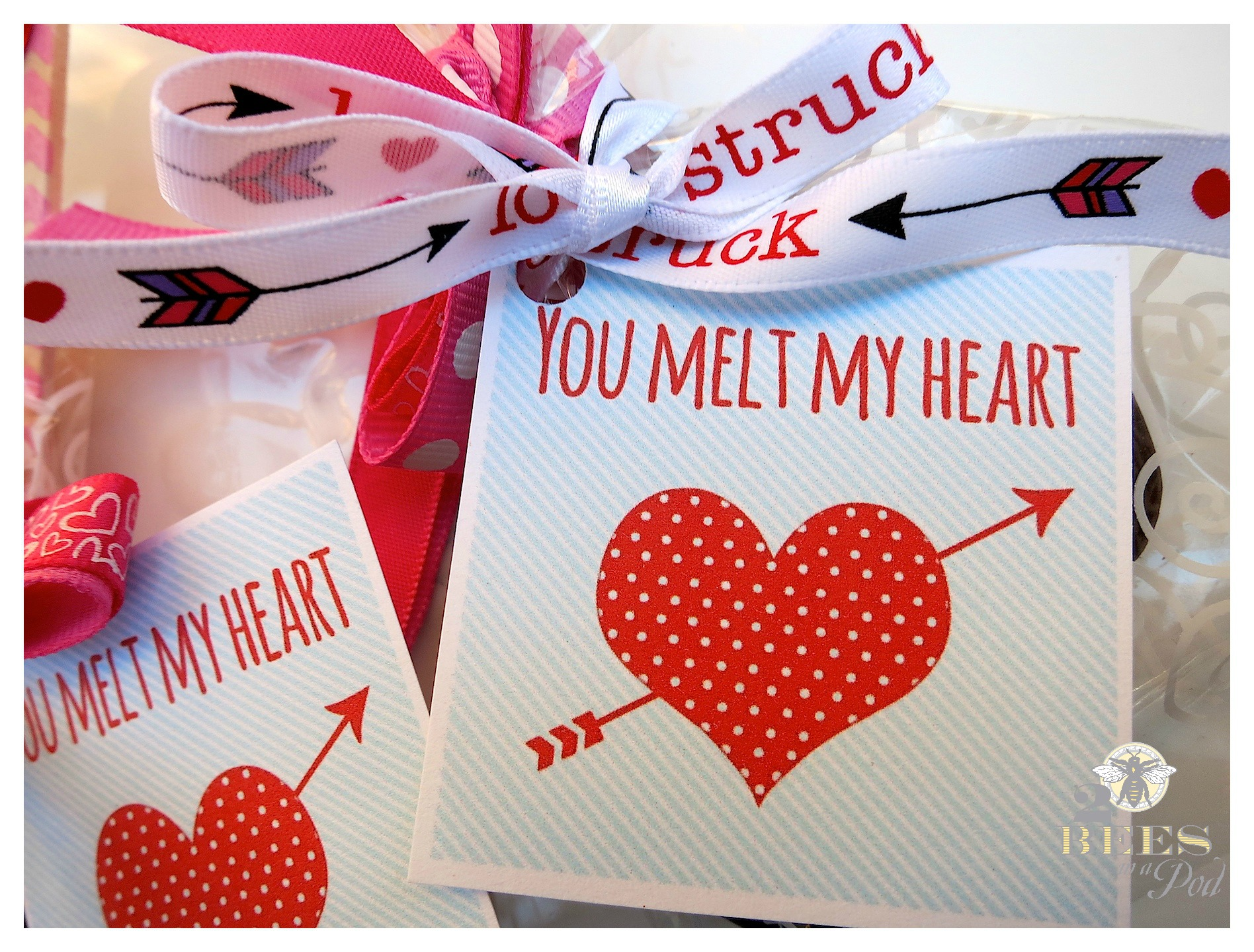 Valentine Chocolate Spoons and Free printable tags