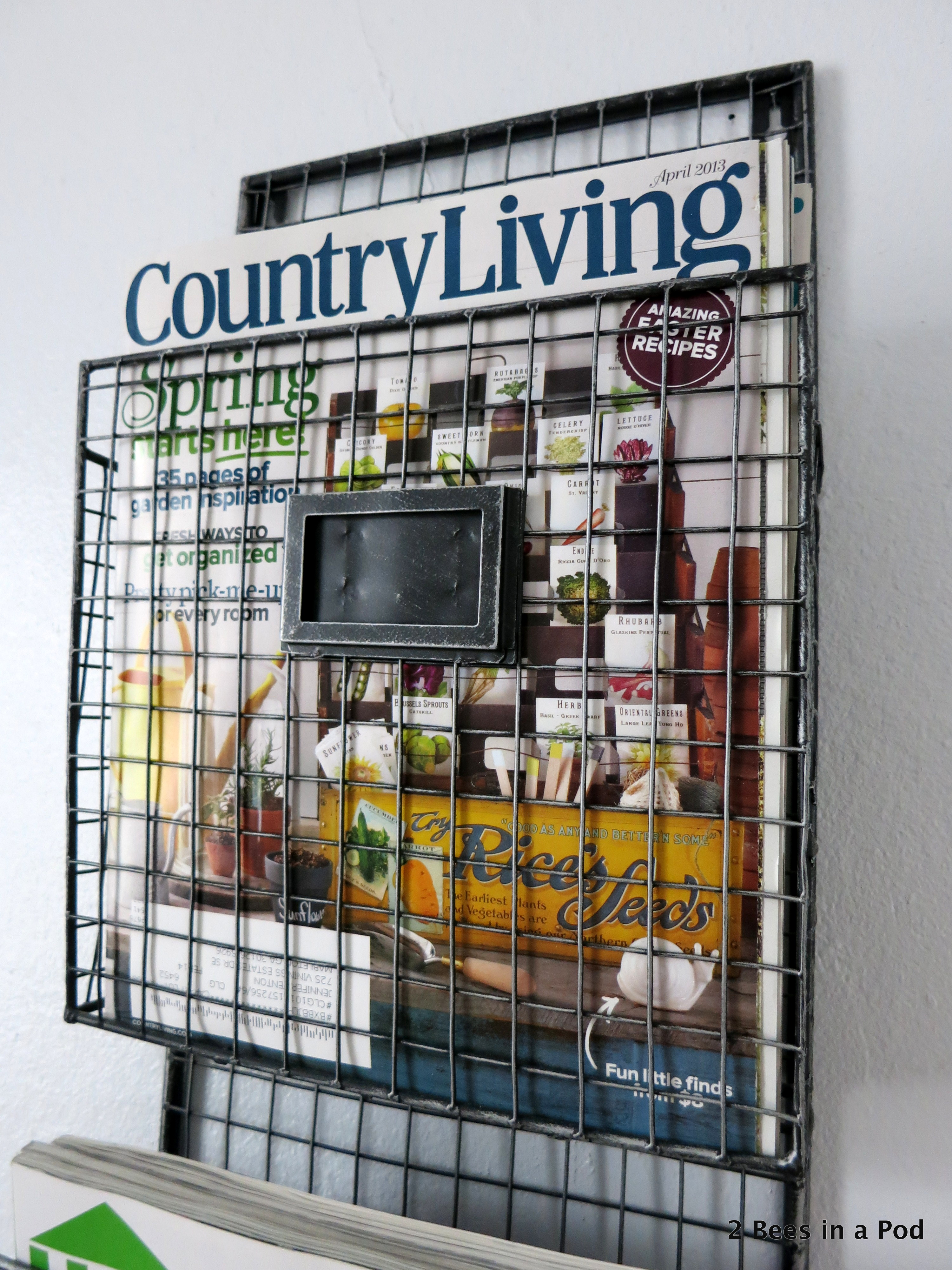 Magazine Rack in Home Office with Country Living, HGTV, and Souther Living