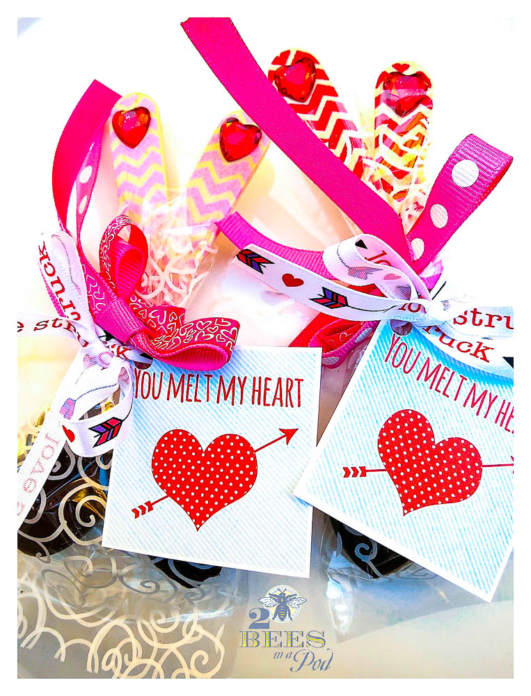 11 Valentine's Day Ideas and free printable tags You Melt My Heart