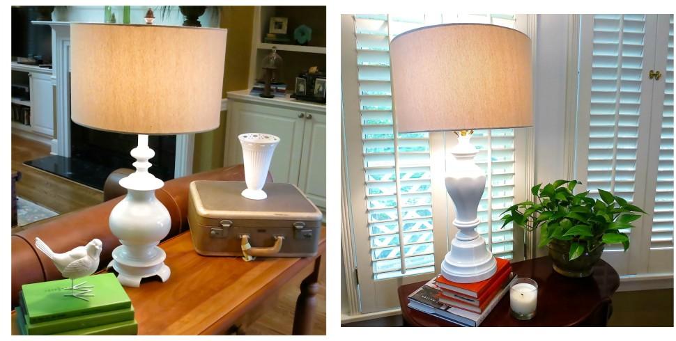 Brass Lamp Makeover…