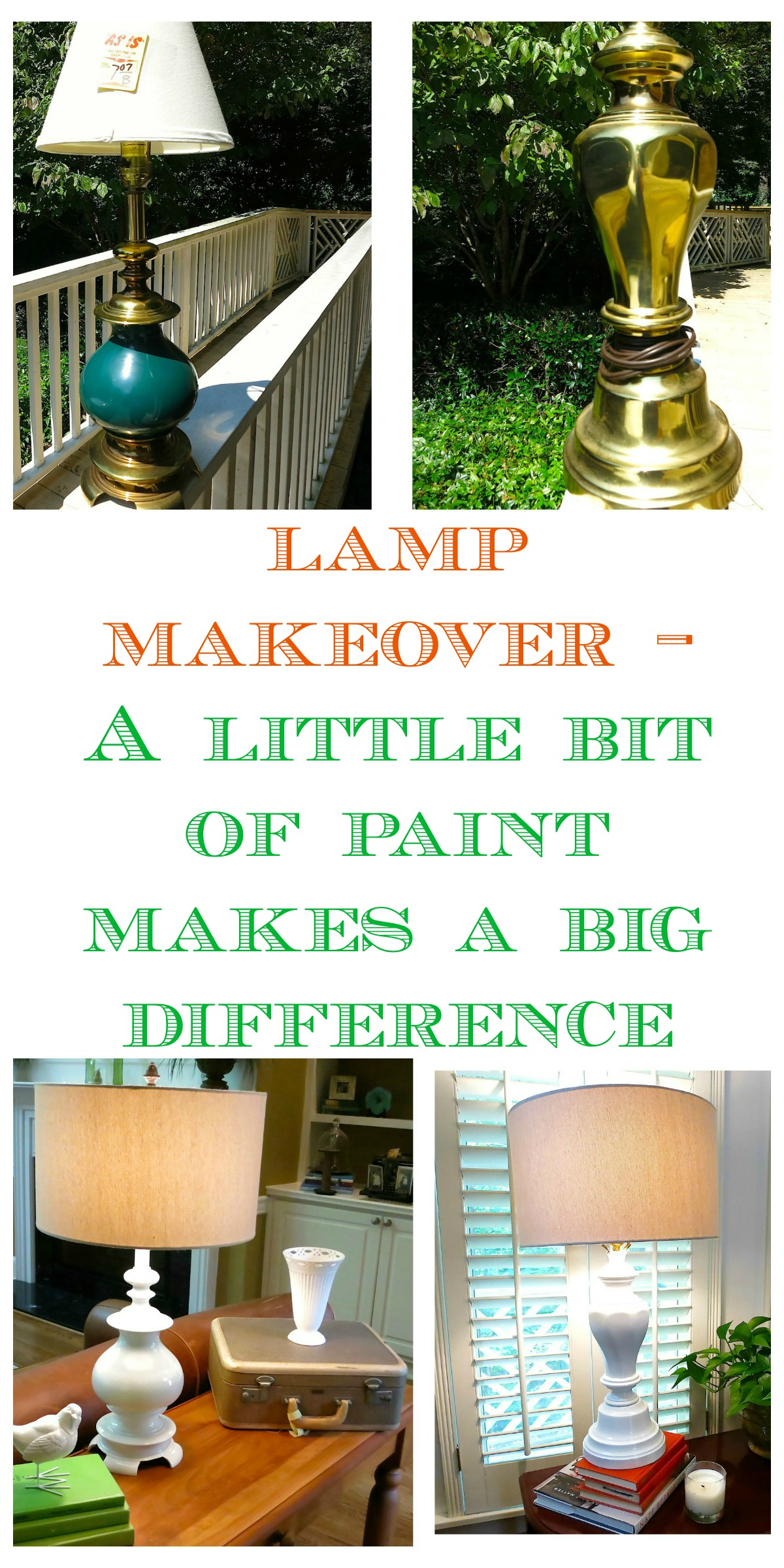 Lamp makeover - a little bit of paint makes a big difference!