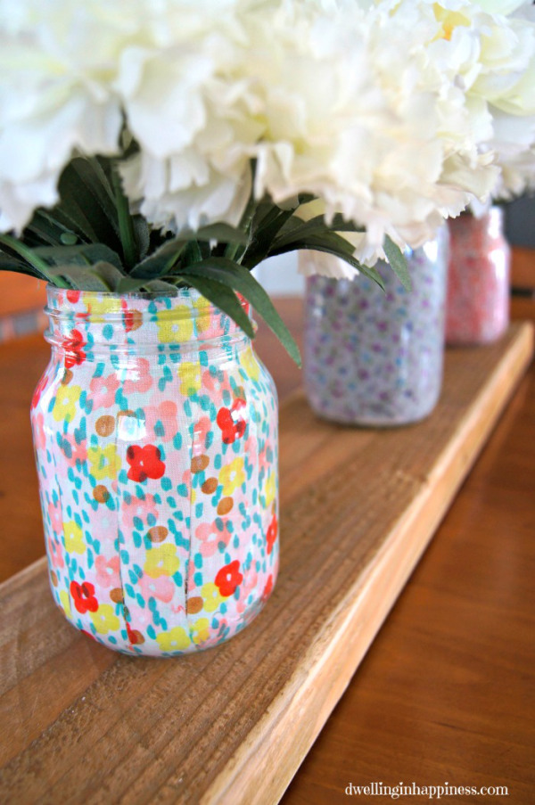Spring Decor - Pretty Mason jars