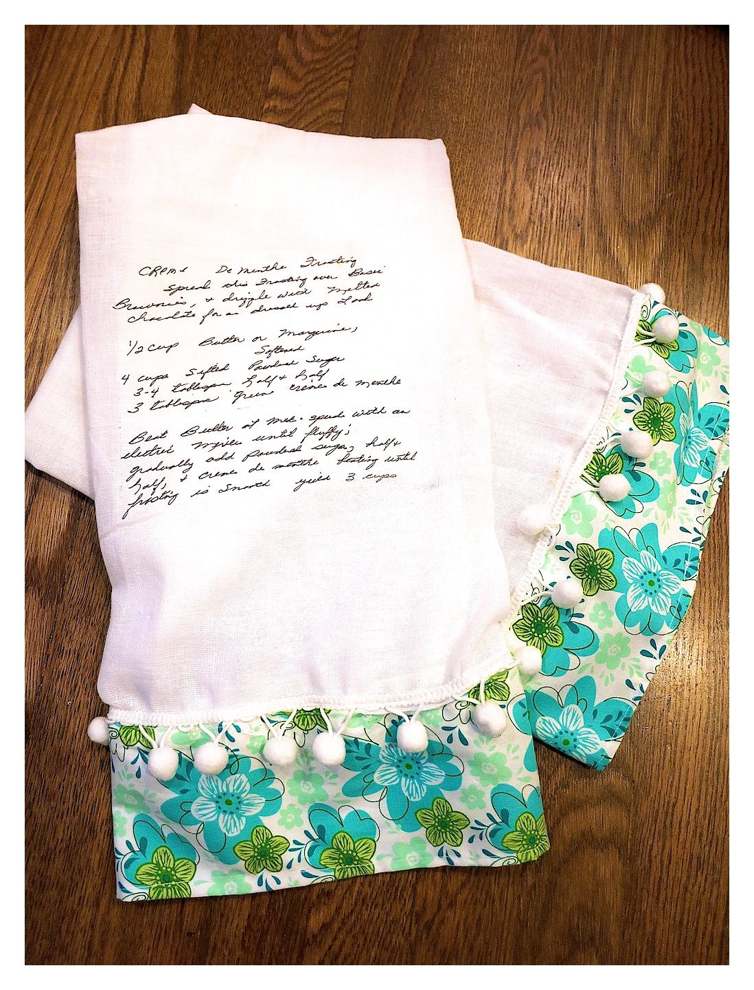 DIY Handwritten Recipe Tea Towel…