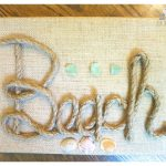 DIY Burlap Canvas Beach Art…