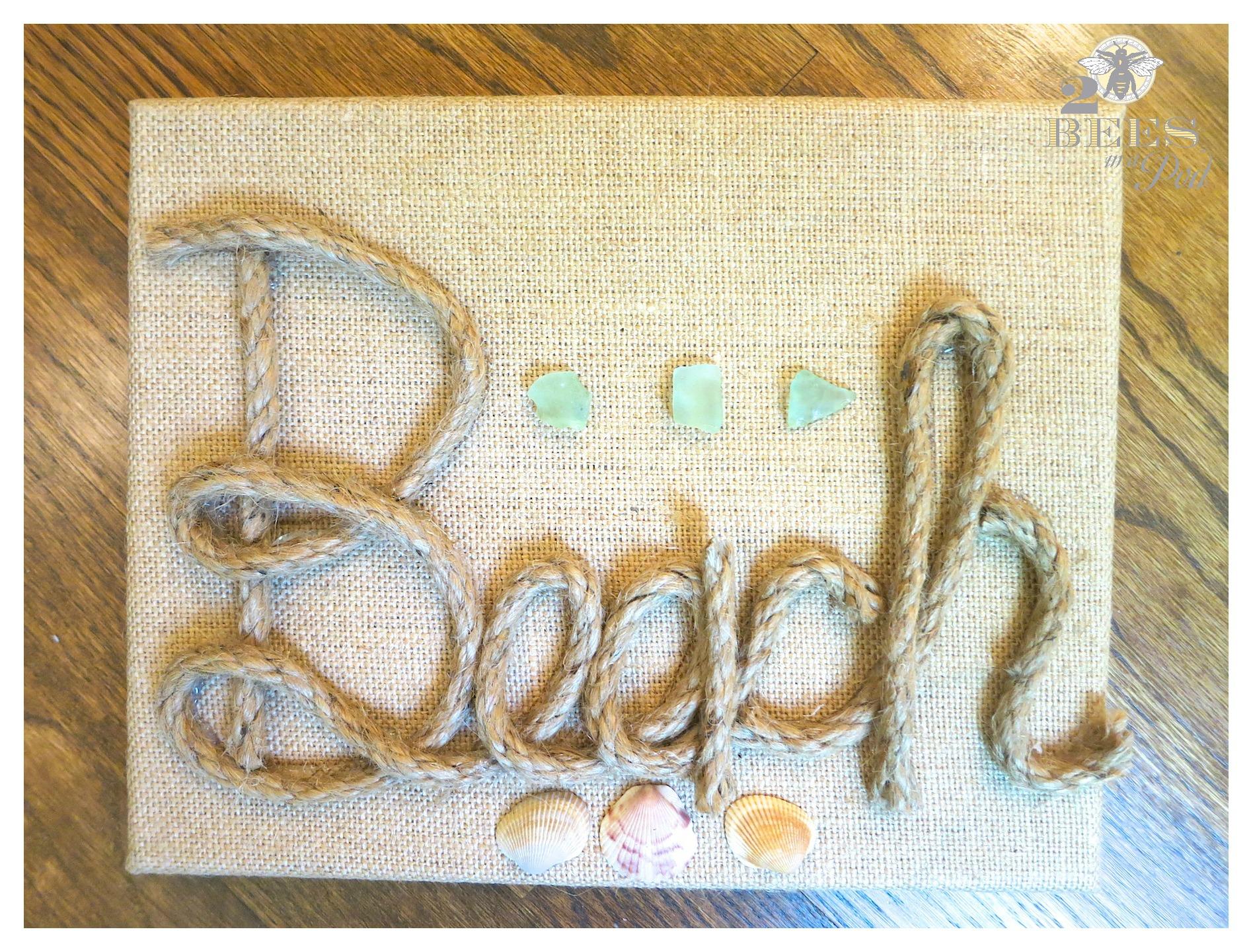 DIY Burlap Canvas Beach Art…
