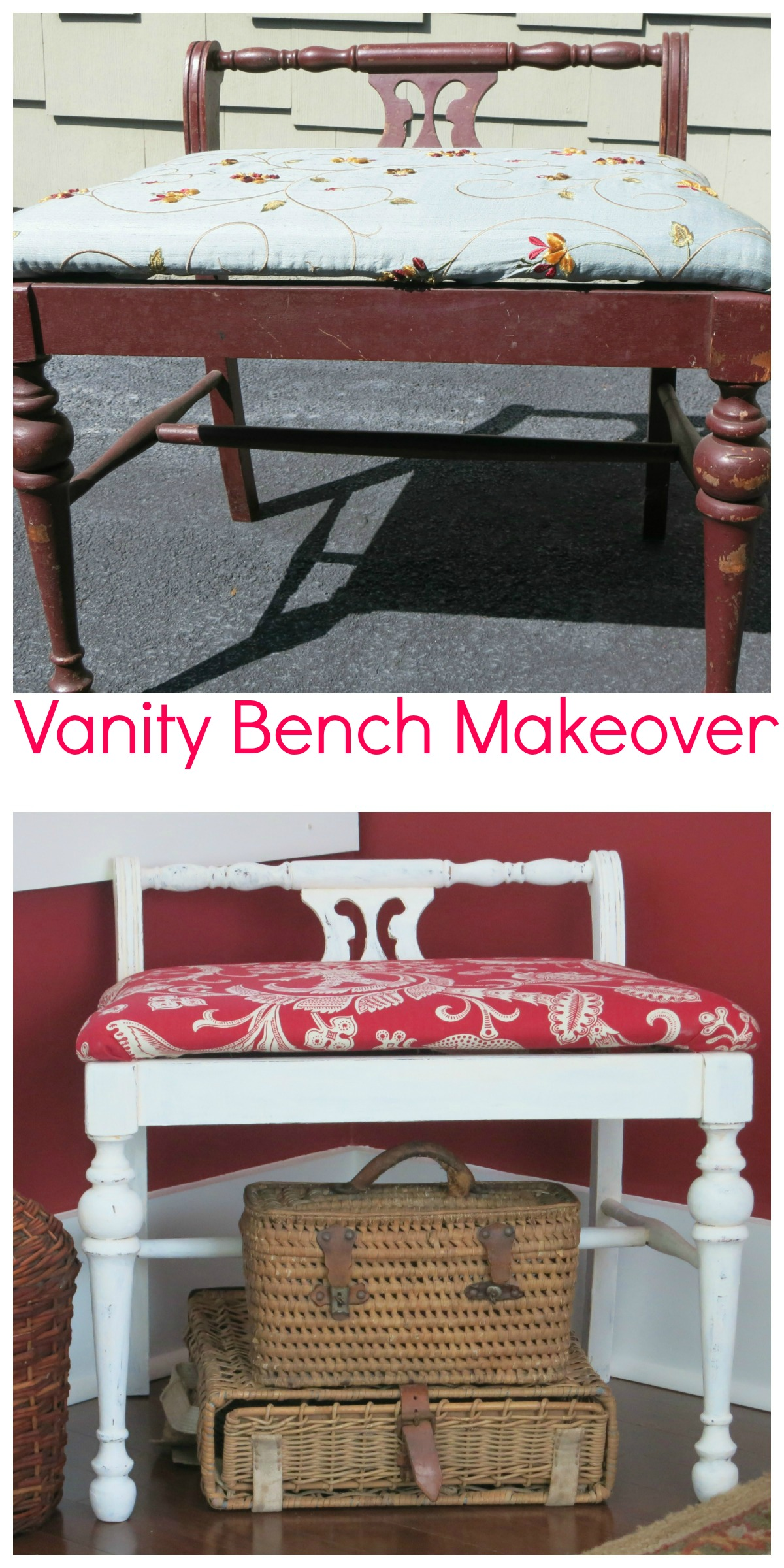 Vanity Bench Makeover 2 Bees In A Pod