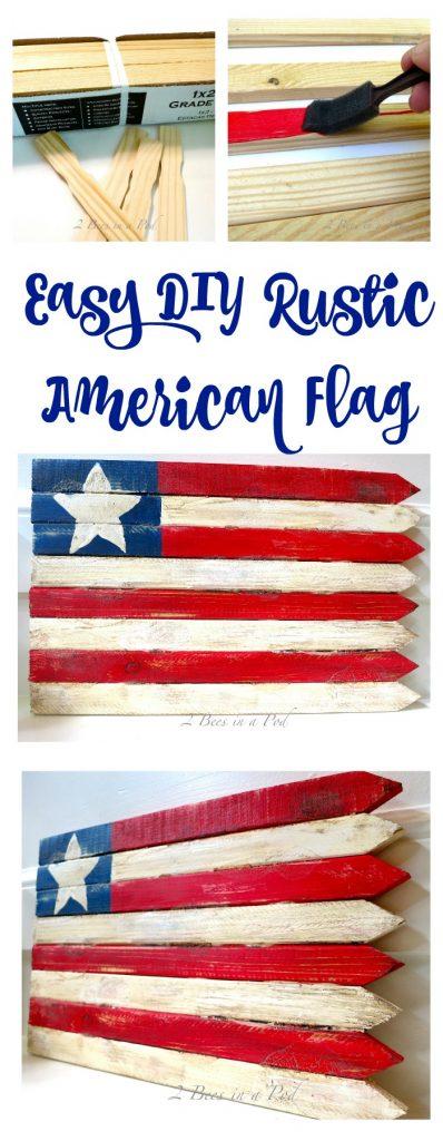 Easy DIY Rustic American Flag