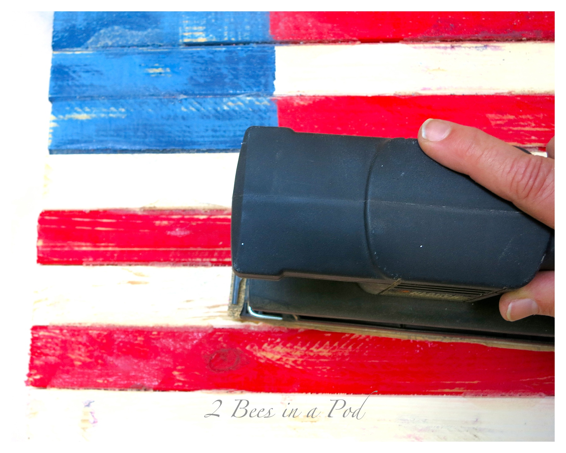 DIY Wooden Painted American Flag