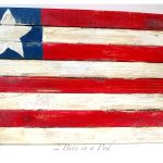 DIY Wooden American Flag - made with grade stakes and glue - easy to make