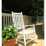 Chalk painted furniture - vintage rocking chair makeover