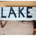DIY Rustic Lake Sign