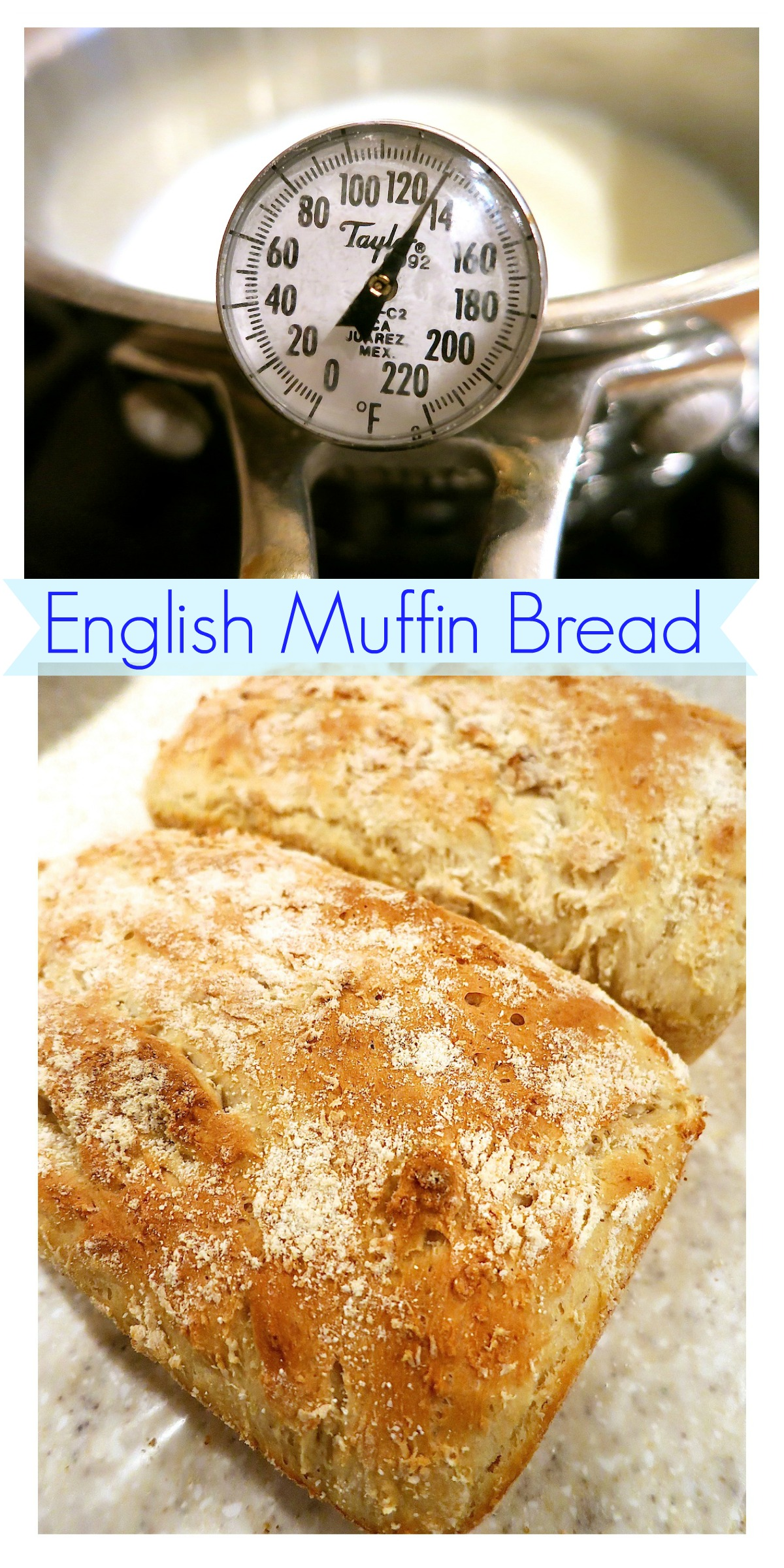 English Muffin Bread Collage
