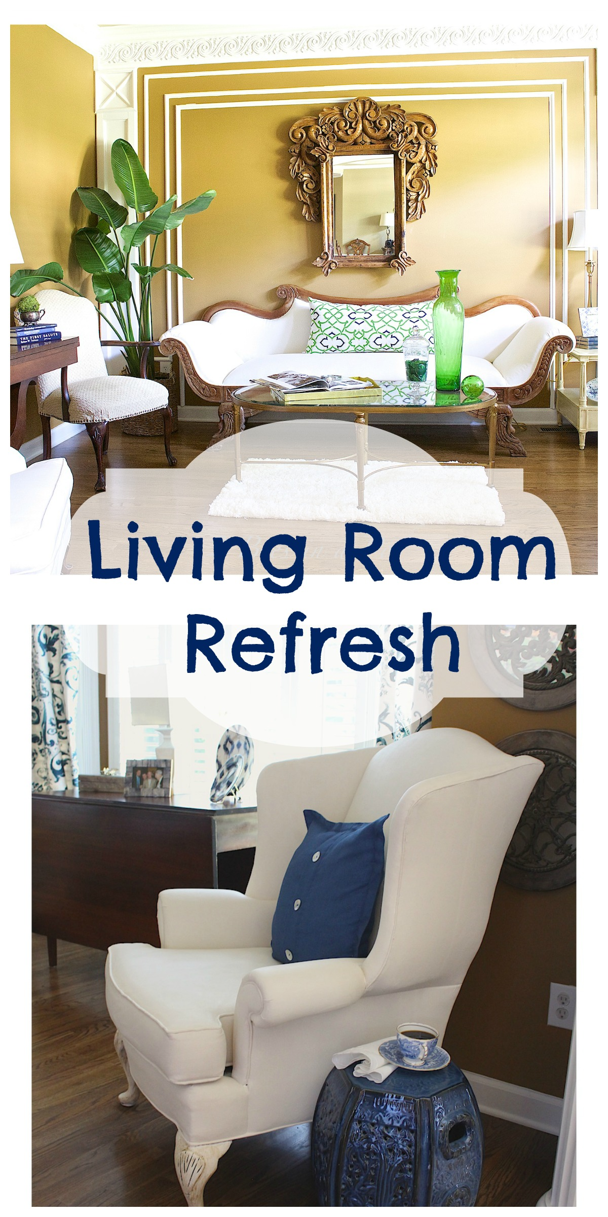 Living Room Refresh Collage