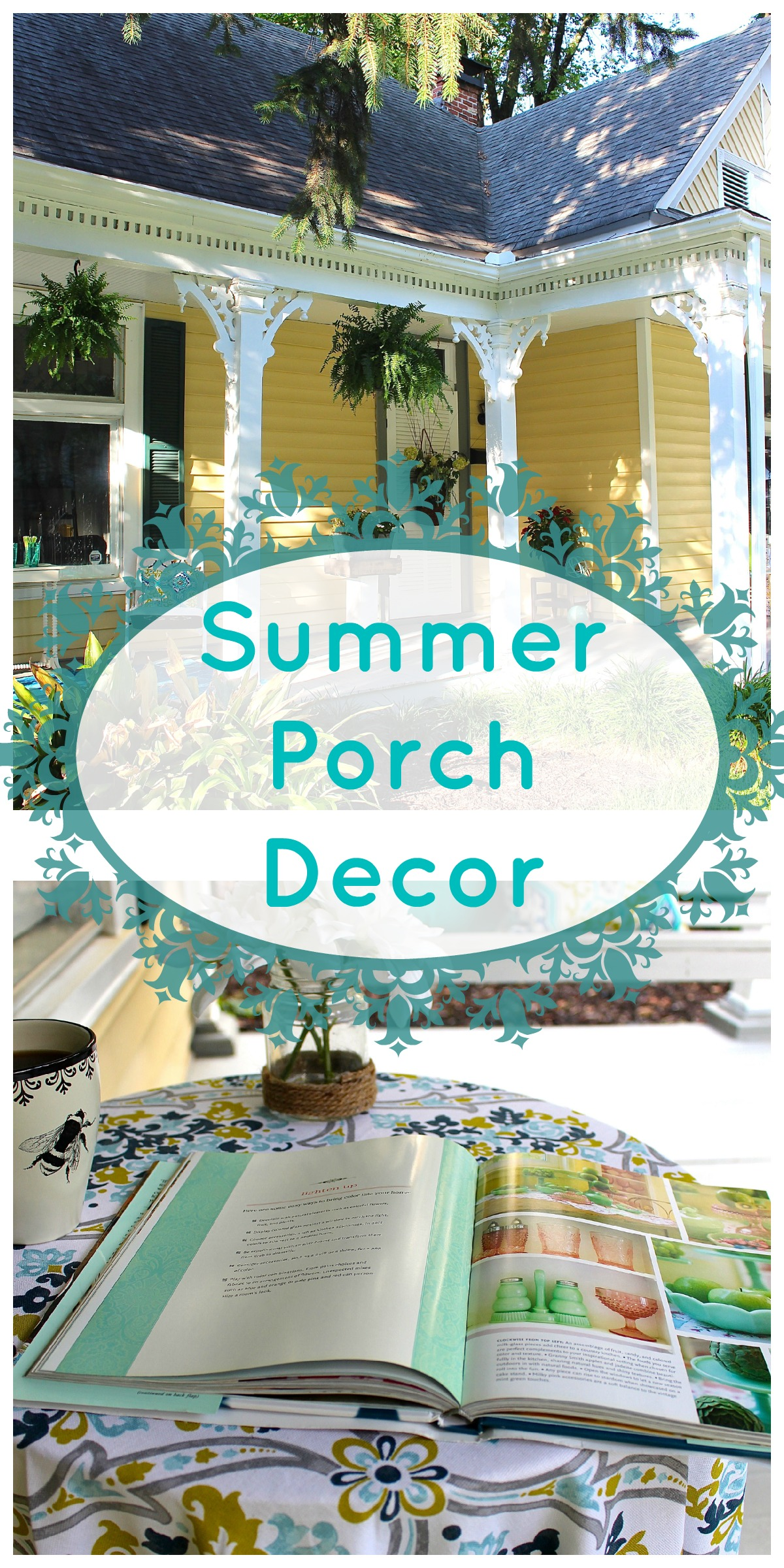Summer Porch Decor Collage