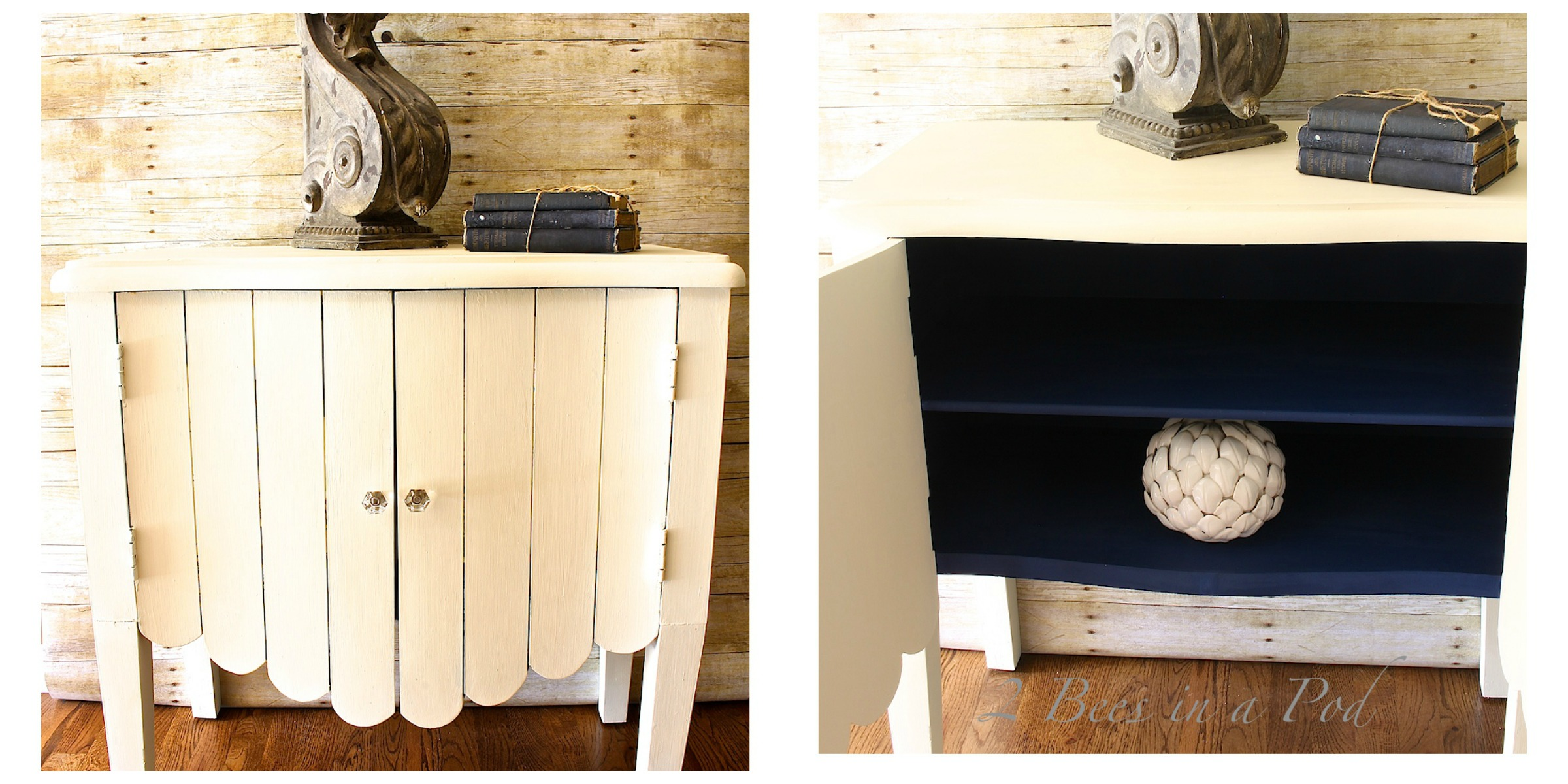 Chalk Painted Side Table Makeover