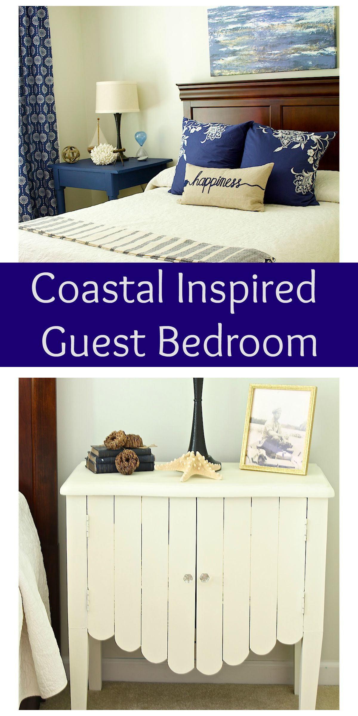 Coastal Bedroom Collage
