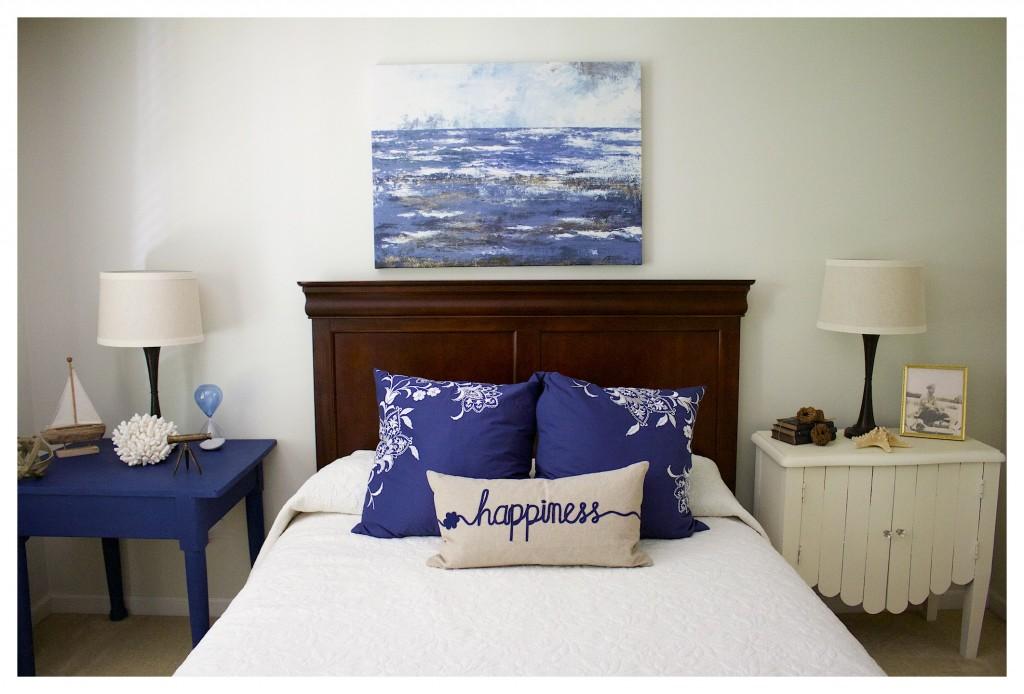 Coastal Inspired Guest Bedroom Makeover