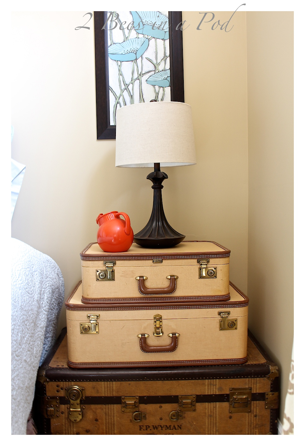 Decorating with vintage suitcases